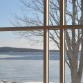 D House curtain wall and view to Blue Hill Bay