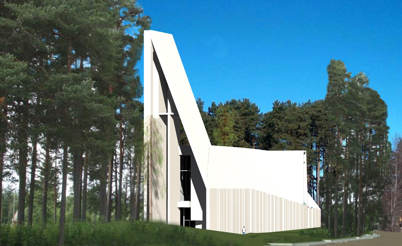 Ny Valer Kirke West View2