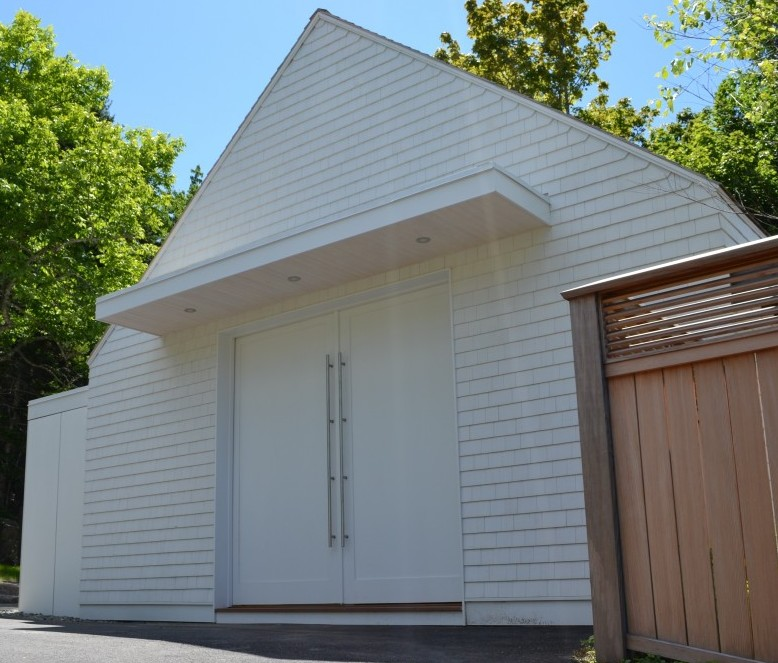 Painting Studio North elevation with silding barn doors