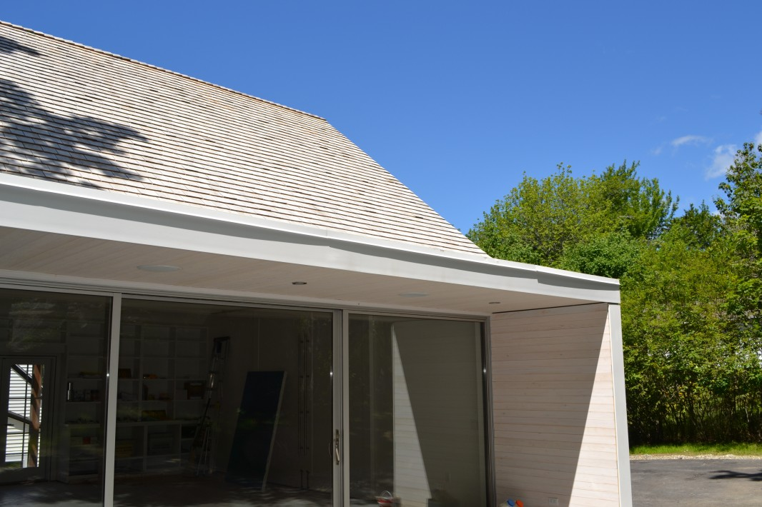 Painting Studio east glazed wall and covered porch